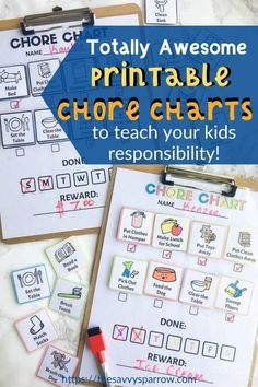 This printable chore chart for kids is a perfect way to teach kids responsibility! Use this kids chore chart for your toddler, preschool aged child, or teenagers! Comes with age appropriate chores for kids! Love this DIY chore chart! Chore Chart By Age, Preschool Chore Charts, Preschool Chores, Chore Chart For Toddlers, Behavior Chart Toddler, Printable Chore Chart, Charts For Kids, Toddler Preschool, Free Printable