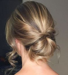a simple, but timeless bun -perfect for a bride who wants relaxed elegance hair by Kerrie-Anne Wedding Hairstyles Tutorial, Party Hairstyles, Trendy Hairstyles, Bride Hairstyles, Fall Nail Designs, Hair Designs, Bridesmaid Hair, Prom Hair, Braids For Short Hair