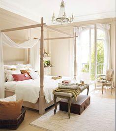 Unas sábanas ligeras y transpirables, unos colores frescos y unos detalles bien cuidados te ayudarán a inmunizar a tu dormitorio contra el calor este verano
