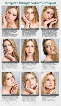 Infografik: 9 Posen die man als Portraitfotograf kennen muss