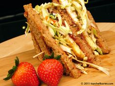 """This is an egg sandwich done in Korean street style. You can easily find white collar workers biting on this """"street toast"""" in the morning outside of a subway station, squeezing a breakfast on the . Authentic Korean Food, Snack Recipes, Cooking Recipes, Free Recipes, Korean Street Food, Asian Recipes, Ethnic Recipes, Desert Recipes, Food Photo"""