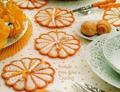 \ PINK ROSE CROCHET /: Centrinhos Bem-Me-Quer - Crochet Coasters