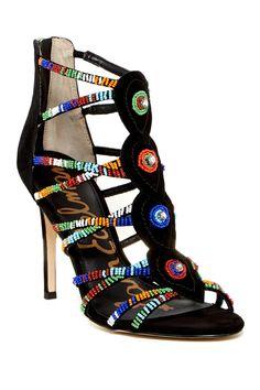 Sage Beaded Heel Sandal by Sam Edelman