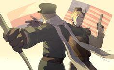 Hetalia Russia America