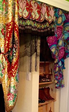 A personal favorite from my Etsy shop https://www.etsy.com/listing/265488147/up-cycled-bohemian-valance-gypsy-boho