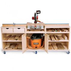 Woodworker's Journal - Ultimate Miter Saw Stand Plan #rocklerwishlist