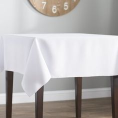 Great for Wayfair Basics Poplin Square Tablecloth by Wayfair Basics? Home Decor Furniture from top store Wood Table Bases, Solid Wood Table Tops, Solid Wood Dining Set, 3 Piece Dining Set, Trestle Dining Tables, Counter Height Dining Table, Extendable Dining Table, Square Tablecloths, Kitchens