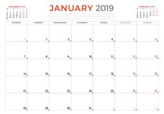 2019 PRINTABLE Calendar / 2019 Wall Calendar Pages Crazy