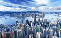 Hong Kong has the most skyscrapers in the world. With skyscrapers Hong Kong has almost twice as much as the city of New York. Places To Travel, Places To See, Travel Destinations, Travel Tours, Hong Kong Itinerary, Hongkong, City Wallpaper, Wallpaper Desktop, Computer Wallpaper