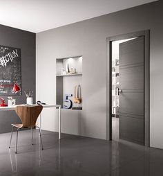 INTAGLIO - Designer Internal doors from FerreroLegno ✓ all information ✓ high-resolution images ✓ CADs ✓ catalogues ✓ contact information. Bedroom Cupboard Designs, Dressing Room Design, Door Design Interior, Internal Doors, Wooden Doors, Windows And Doors, Designer, Wall Colors, House Design