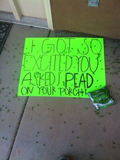 creative way to answer someone for a dance!