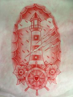 lighthouse - I love the wheel and flowers at the bottom
