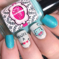"""146 Likes, 15 Comments - Jennifer (@4luvofnailart) on Instagram: """"This is my second cutesy Valentine's mani. There's so many of these out there I wanted to do. Can't…"""""""
