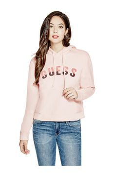 Guess Chenille Logo Hoodie Found on my new favorite app Dote Shopping #DoteApp #Shopping
