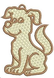Freestanding Lace Dog - 4x4 | FSL - Freestanding Lace | Machine Embroidery Designs | SWAKembroidery.com VK-Digitizing