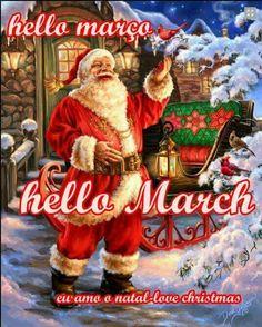Great Santa welcoming March!!! Bebe'!!! Love this Traditional Santa!!!