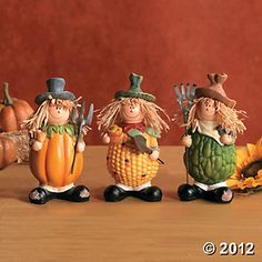 Vegetable Scarecrows