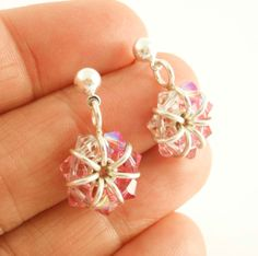 Pink Swarovski Sterling Silver Earrings  Breast by unkamengifts, $35.00 - NOT A TUTORIAL, JUST AN IDEA