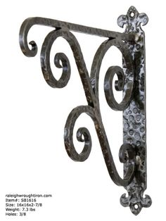 Our Decorative Iron Brackets Can Be Used To Hang Just About Anything