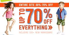 Crazy 8: Up to 70% Off Site-Wide! | Closet of Free Samples | Get FREE Samples by Mail | Free Stuff