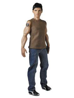 "JACOB BLACK - LE of 3000 , Taylor Lautner face sculpt on 17.5"" male athletic body , original price was $ 149.99"