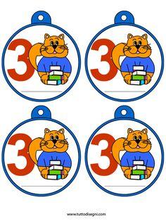 medaglie-scuola-primaria-classe-terza School Clipart, Petra, Organization Hacks, Smurfs, Back To School, Preschool, Clip Art, Printables, Sport
