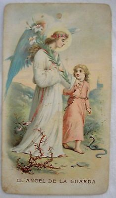 The Protection of The Guardian Angel Very Old Holy Card | eBay