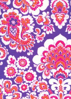 JP46blue | Nelly pattern paisley floral link purple