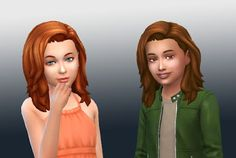 The Sims 4 | My Stuff: SP05 Movie Hangout Stuff Med Wavy Hairstyle Age Converted | new mesh hairs for female & male child