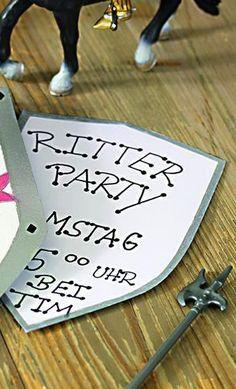 Ritter Einladung Was Für Eine Schöne Idee Für Eine Einladung Zum  Kindergeburtstag! Vielen Dank