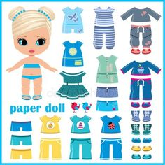 Buy the royalty-free stock vector image Paper doll with clothes set online ✓ All rights included ✓ High resolution vector file for print, web & Social.mette free paper dolls and paintings too Arielle Gabriel's International Paper Doll SocietySumm Paper Doll Template, Paper Dolls Printable, Paper Dolls Clothing, Doll Clothes, Felt Dolls, Doll Toys, Image Paper, Dress Up Dolls, Doll Crafts