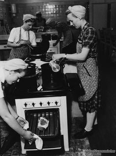 Prospective Housewives in a Cooking Class at the Electrical Works in Hamburg (1951)