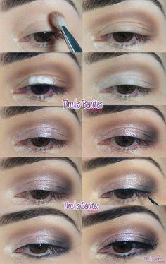 Thais Benites Make up: Passo a passo - Maquiagem delicada para a noite