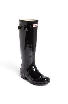 Hunter 'Original Tall' Gloss Rain Boot (Women) available at #Nordstrom Need a pair!