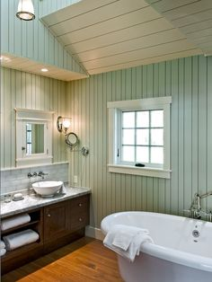 Painted Color Wood Walls