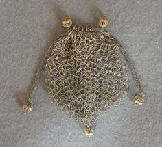 Silver Ring Reticule, c 1800. Meg Andrews auctions.