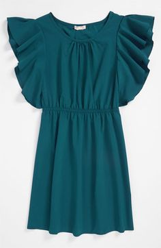 Sally Miller Flutter Sleeve Dress (Big Girls) available at #Nordstrom