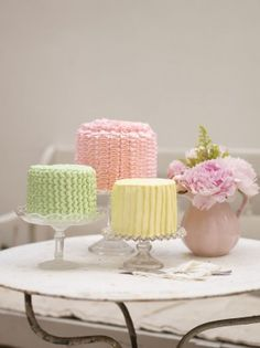 Trio of Buttercream Beauties Cake Design Download - Cake Decorating and Baking Downloads - Download Store Stitch Craft Create