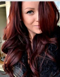 "I am in serious love with this hair color. Always have been. ""Cherry Cola"" Red Hair Color"