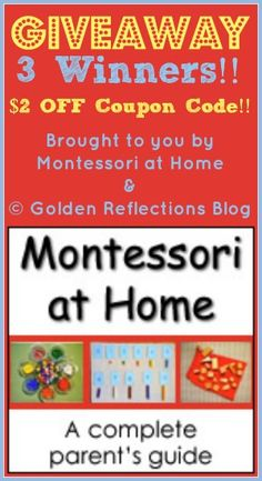 Montessori At Home Giveaway -- ends Monday!