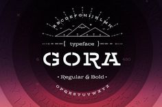 Gora Stencil – Reg & Bold by Russian Fonts on @creativemarket