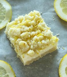 Lemon Sugar Cookie Bars by The Salty Marshmallow