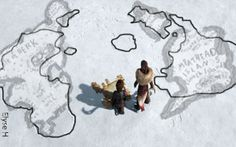 Did anyone else notice that the map Valka draws in the snow is almost identical to the map of Berk/the Meathead Islands from the book? Only the Southern Meathead is upside-down. Thank you DreamWorks!
