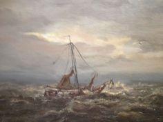 Een schilder maakte een schilderij over een hoogaars in nood op volle zee.