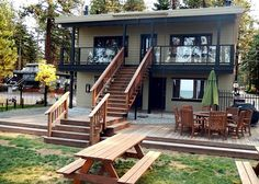 Newly remodeled beach front vacation rental with studio suites and more! Awesome for family gatherings #rnrvacationrentals #southlaketahoe VIA RnR Vacation Rentals rnrvr.com South Lake Tahoe