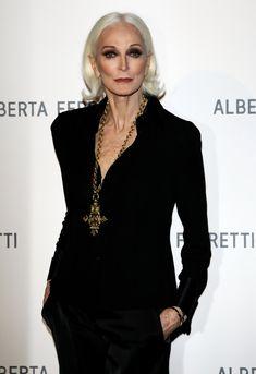 Carmen Dell'Orefice attends the Alberta Ferretti dinner at Palazzo Vecchio during the Pitti Immagine Uomo 79 on January 11, 2011 in Florence, Italy.