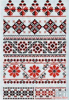 Украинские черно-красные орнаменты. - Клуб рукоделия - Страна Мам