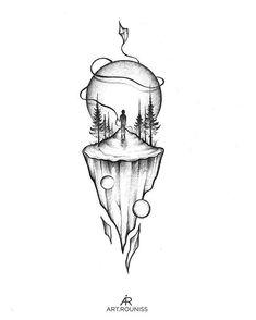 ⠀ ✧ don't copy or use without permission Copyright © Alexandra Yarushyna Space Drawings, Dark Art Drawings, Tattoo Design Drawings, Pencil Art Drawings, Art Drawings Sketches, Tattoo Sketches, Easy Drawings, Stippling Art, Bild Tattoos