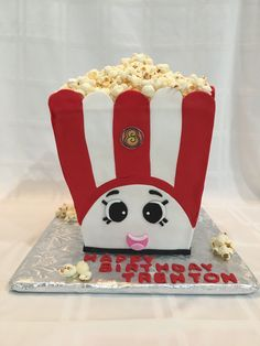 Shopkins Poppy Corn Birthday Cake #theicingandthecake #shopkinscake