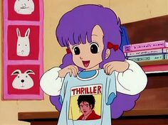 That time, Michael Jackson was featured in Anime. I mean, who didn't love Thriller when it came out? Manga Anime, Old Anime, Anime Art, Retro Aesthetic, Aesthetic Anime, Kawaii Anime, Vintage Cartoon, Manga Games, Vaporwave